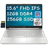 2021 Flagship HP 15 Laptop Computer 15.6' FHD IPS Touchscreen 10th Gen Intel Quad-Core i5-1035G1 (Beats i7-8550U) 12GB DDR4 256GB SSD HP Fast Charge WiFi HDMI Webcam Win 10 + Delca 32GB Micro SD Card