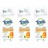 Tom's of Maine Long Lasting Deodorant, Deodorant for Women, Natural Deodorant, Fresh Apricot, 2.25 Ounce, Pack of 3