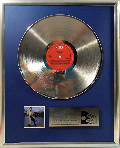 Johnny Cash - Rainbow platin Schallplatte (goldene gold record)