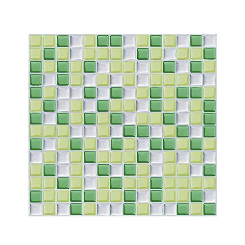 Lianlili 10 unids Premium Moderno Autoadhesivo Mosaico Mosaico de Mosaico calcomanía Pegatina de Cocina DIY Cocina baño decoración de casa Vinilo (Color : MSSB 205)