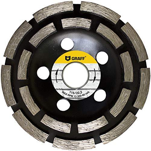 GRAFF Diamant Schleifscheibe 115 mm für Winkelschleifer - Diamant Schleiftopf für Stein, Beton, Fliesenkleber, Granit, Mauerwerk - Professional Schleifteller