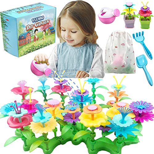VLUSSO Gifts for 3-6 Year Old Girls - DIY Flower Garden Building Kits...