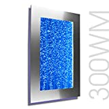 Bubble Panel Wall Mount Hanging Fountain 300WM Bubble Wall (Silver with Smartphone Control...