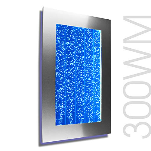 """Wall Mount Hanging Bubble Wall Aquarium 30"""" LED Lighting Indoor Panel 300WM Water Fall Fountain Water Feature"""