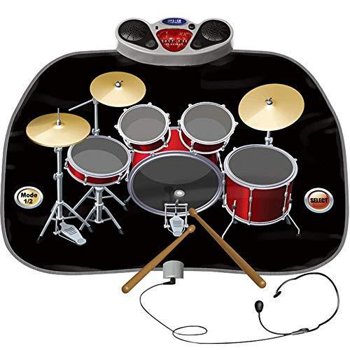 THREEW Videospieldecke Kinder Babys Frühkindliche Bildung Puzzle Trommel Musikdecke Jazz Trommel Junge Mädchen Spielzeug Geburtstagsgeschenk