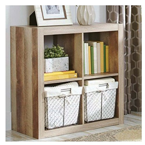 Better Homes and Gardens.. Bookshelf Square Storage Cabinet 4-Cube Organizer (4-Cube, Weathered)