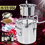 Xin Hai Yuan 11/22 / 35L DIY Alcohol Destilador Inoxidable Alcohol Brew Equipo Destilador de Agua Cobre Vino Esencial Brewing Kit de Petróleo,35L