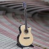SUNXK Scatola di Chitarra elettrica ballata da 40 Pollici con Una Chitarra EQ Tiglio Colore di Legno della...