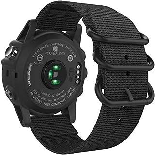 حزام ساعة رياضي بديل من النايلون 26 مم مع أدوات برغي من أجل Garmin Fenix 5X/3/3 HR/D2 Charlie-black