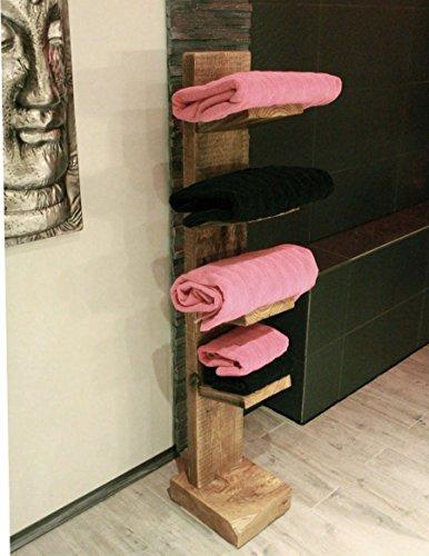 Holz Handtuchregal stehend natur fertig montiert