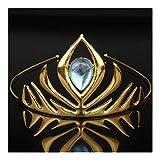 AdorabFruit Joyas de Cristal Azul de Oro pequeña Corona de Las Tiaras peina el Pelo Regalos Grado Superior Manera de Las Mujeres de Pelo (Metal Color : Style 2)