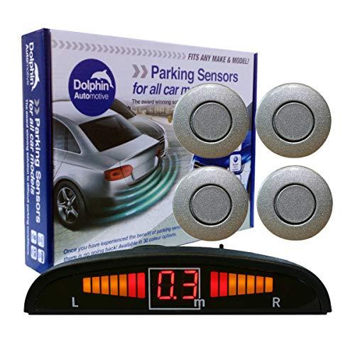 Dolphin DPS450 Parksensoren, in 32 Farben, 4 Ultraschallsensoren, Audio & Display, Alert System matt & glänzend schwarz + 30 weitere Farben