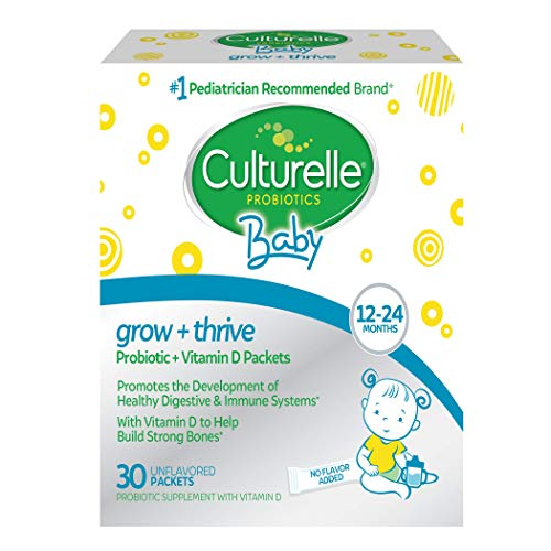 Culturelle Baby Grow + Thrive Probiotics + Vitamin D Packets | Supplements Good Bacteria Found in Breast Milk | Helps Promote a Healthy Immune System & Develop a Healthy Digestive System* | 30 Count