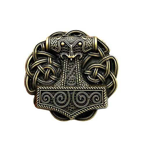 YOQUCOL Vintage Viking Style Belt Buckle Bronze Celtic Knot Cross Belts Buckle For Men