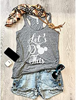 Let's Do This/Disney love Trip/True To Women's Fit/Women's Eco Tri-Blend Tanks/Screen Printed w. Eco Ink/Disney Trip Shirt/Disney Clothing/Triblend Tank/Free Shipping//