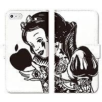 301-sanmaruichi- ARROWS Be4 F-41A 手帳型 ケース アローズ ケース カバー 手帳 スマホケース PUレザー カード収納 おしゃれ SNOW WHITE PRINCESS プリンセス 白雪姫 rock tattoo C 手帳ケース