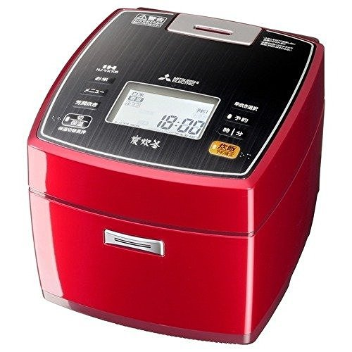 Mitsubishi Electric IH rice cookers bincho Sumisumi ª¤°y 5.5 Go cook Ruby Red NJ-VX106-R