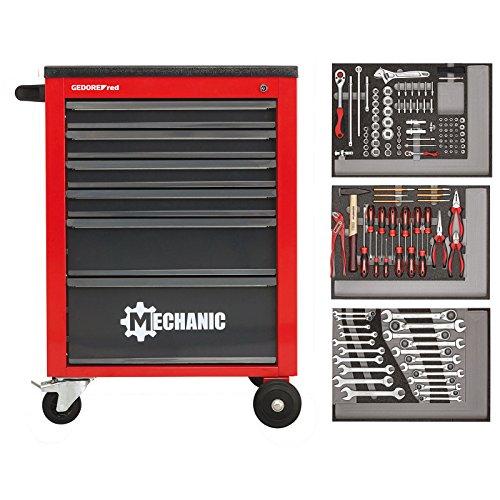 GEDORE red Werkzeugsatz im Werkstattwagen MECHANIC 129-teilig