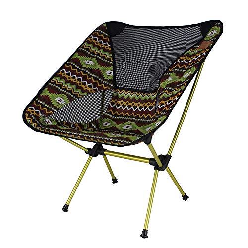 SUNJULY Campingstuhl 150 kg Belastbar, Compact Klappstuhl Angelstuhl Outdoor Aluminium für Camping, Wandern, Picknick, Angeln, Gartengrill, Strandreisen