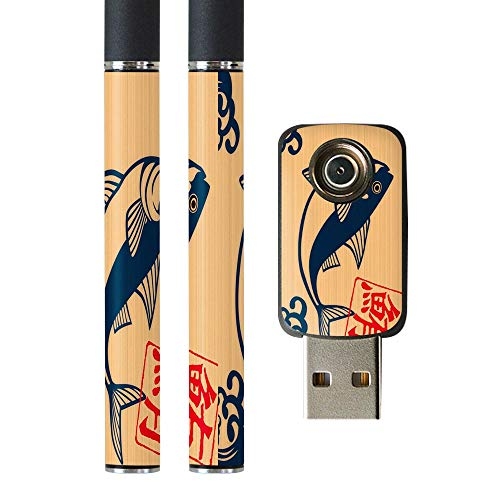igsticker プルームテック Ploom TECH 専用スキンシール バッテリー スティック USB充電器 カバー ケース 保護 フィルム ステッカー スマコレ 003444 その他 ユニーク 和風 和柄 魚