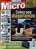 MICRO HEBDO [No 394] du 03/11/2005 - FAITES-VOUS DEPANNER A DISTANCE GRACE A MSN MESSENGER - CREEZ VOS DIAPORAMAS - 18 PROCESSEURS POUR PORTABLES TESTES ET COMPARES - 5 AGENDAS GRATUITS - COMMENT L'ANTISPAM VOUS PROTEGE DES PUBLICITES - 10 KITS GPS POUR VOTRE VOITURE.