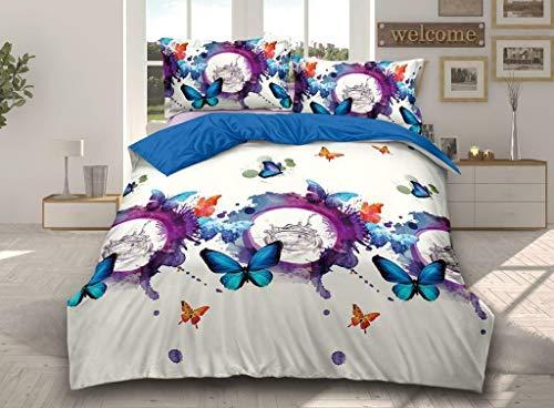 Juego de ropa de cama 3D, 4 piezas, funda de edredón, sábana bajera y fundas de almohada