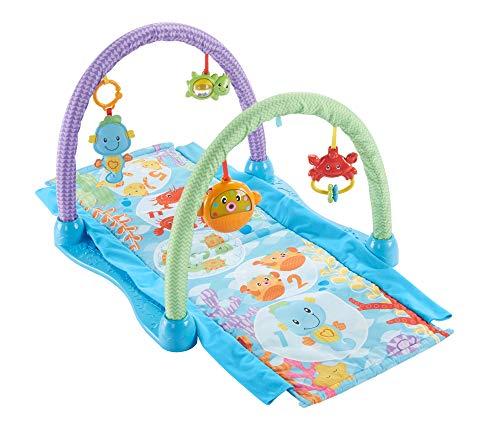 Fisher-Price DRD92 Seepferdchen Spieldecke Krabbeldecke mit 2 Spielbögen, ab nehmbaren Spielzeugen Babyerstausstattung, ab 0 Monaten