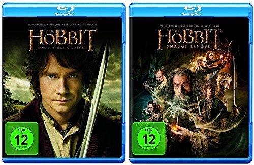 Der Hobbit: Smaugs Einöde + Eine unerwartete Reise Teil 1+2 * Blu-ray Set
