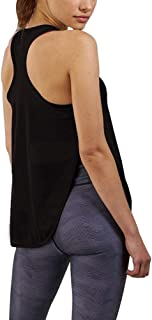 Bestisun Racerback Yoga Workout Tank Top Sexy Side Split Sleeveless Fitness Shirts