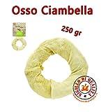 Osso per Cani Ciambella Bianca 250gr Diametro 18 cm Ferribiella