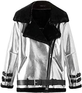NUOVI Donna Denim Giacca Da Motociclista Retrò Vintage Con Cintura Alla Moda Zip cappotto Trendy 10-26