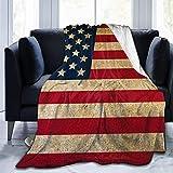Vintage Bandera Americana Ultra Suave Manta de Microfibra de Franela de Lana Suave y cálida Felpa sofá Cama sofá Sala de Estar
