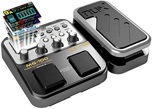 Asmuse™NUX MG 100 Elektrische Gitarren Multieffekte Professionel Multi Effekt Pedal Prozessor Looper EFX Amp EQ Mixer Instrument Bass Westerngitarre(EU Plug)