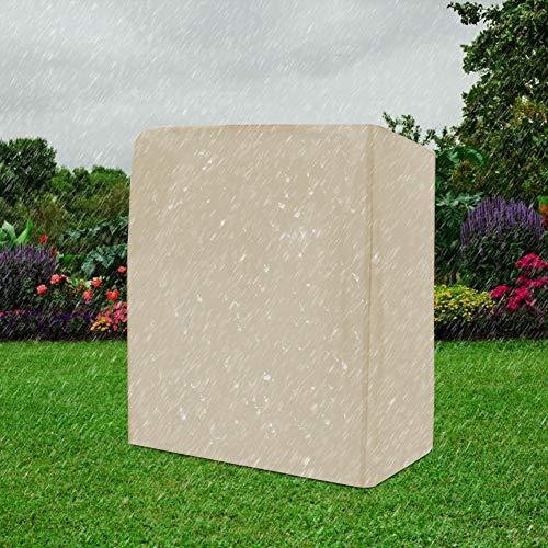 Labuduo Zweisitziger Schaukelbezug, Hängematten-Patio-Schaukelstuhlbezug Sonnenschutz-Schaukelbezug für den Außenbereich, Schaukelzubehör für den Garten Patio-Zubehör für den(Beige)