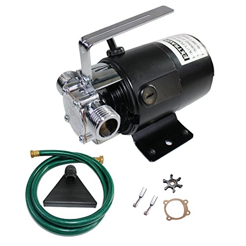 EXTRAUP 115Volt 330 GPH Portable Low Suction Electric Water Transfer Removal Utility Pump With Suction Hose Kit