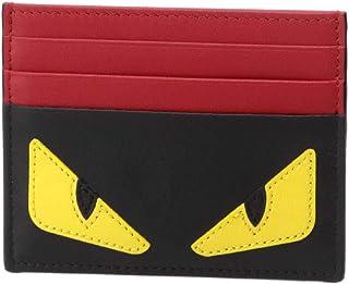 (フェンディ) FENDI カードケース BAG BUGS ブラック/レッド 7M0164 O73 F0U9T [並行輸入品]