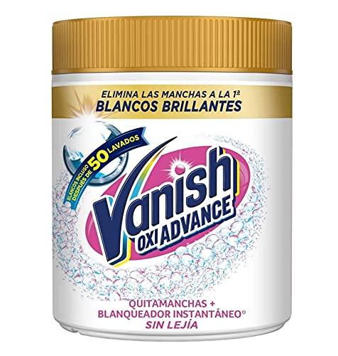 Vanish Oxi Advance - Quitamanchas y blanqueador para ropa blanca, en polvo, sin lejía - 400 g