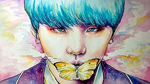 Equipo de Chicos Coreanos-BTS- Bangtan Boys﹣DIY 5D Diamond Painting Adultos Pintura Punto de cruzCuadros Punto de Cruz para decoración de Pared del hogar﹣40x50cm(Sin Marco)