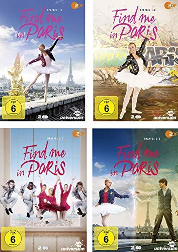 Find me in Paris - Staffel 1 + 2 (1.1+1.2+2.1+2.2) im Set - Deutsche Originalware [8 DVDs]