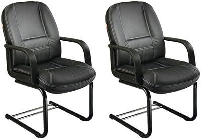 Mavi Black Visitor Office Chair Set of 2 (DVC-508)