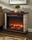 LifeSmart FP1136 1500 Watt Portable Electric Infrared Quartz Fireplace Heater...