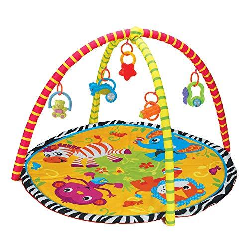 belupai Alfombra de juego para bebé, gimnasio, gimnasio de juegos, recién nacido, con centro de actividades, música y sonidos, adecuado desde el nacimiento (animales grandes)