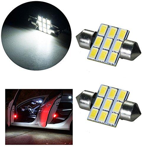 PA 2 x 9 SMD 5630 31 mm Festoon lumières de voiture/dôme clair/plaque d'immatriculation/porte Courtois ampoules LED 12 V (Blanc)