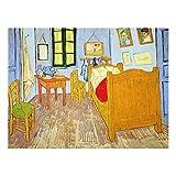 Bilderwelten Cuadro de Cristal Vincent Van Gogh El Dormitorio en Arlés 3:4Tamaño: 60x80cm...