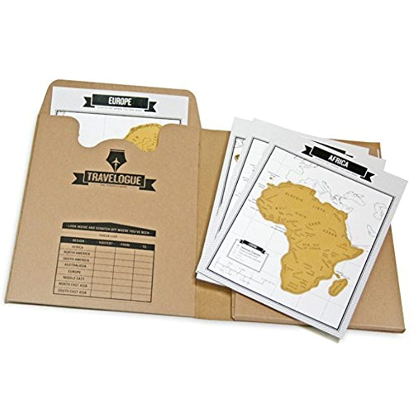 Travelogue Travel Journal Notebook with Scratch Off World Map