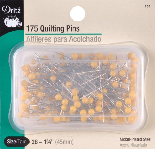 Dritz 131 Quilting Pins, Yellow, 1-3/4-Inch (175-Count)