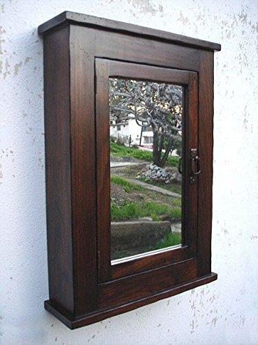 Primitive Mission Medicine Cabinet/Dark Walnut/Solid Wood & Handmade/Surface Mount