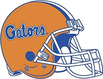 6 Inch Gators Football Helmet Decal UF University of Florida Logo FL Removable Wall Sticker Art NCAA Home Room Decor 6 1/2 by 5 1/2 Inches