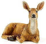FRTCV Festive Deer Animal Sculpture Home Decor for Outdoor Garden Statue (8.66 Inch Height)