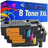8x tóner XXL para Dell C1660C1660W platinumserie